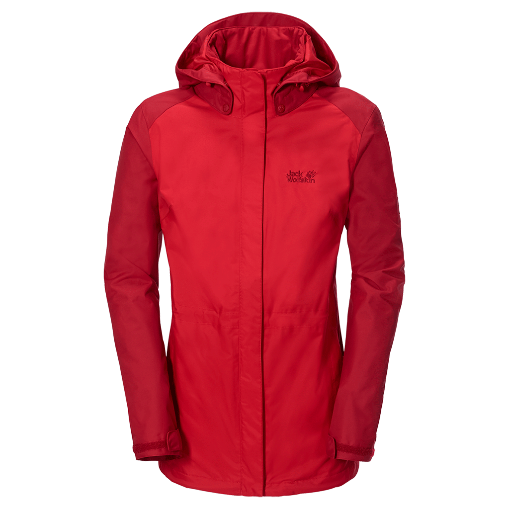 check out discount shop classic Jack Wolfskin Womens Amply Texapore Jacket - Red Fire £150.00