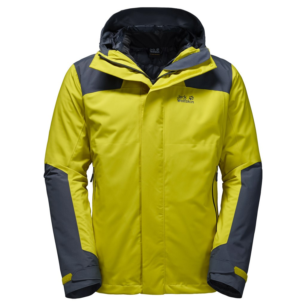 check out 7f723 7cd6b Jack Wolfskin Mens Altiplano 3 in 1 Jacket - Wild Lime £250.00