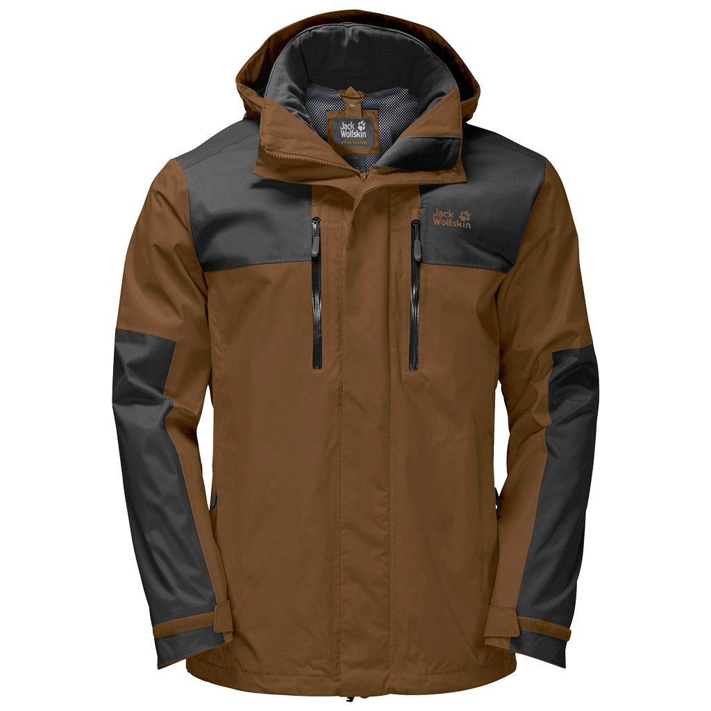 Dark Brown Wolfskin Jacket Mens £112 Jack Flex 00 Jasper IWDH9YE2