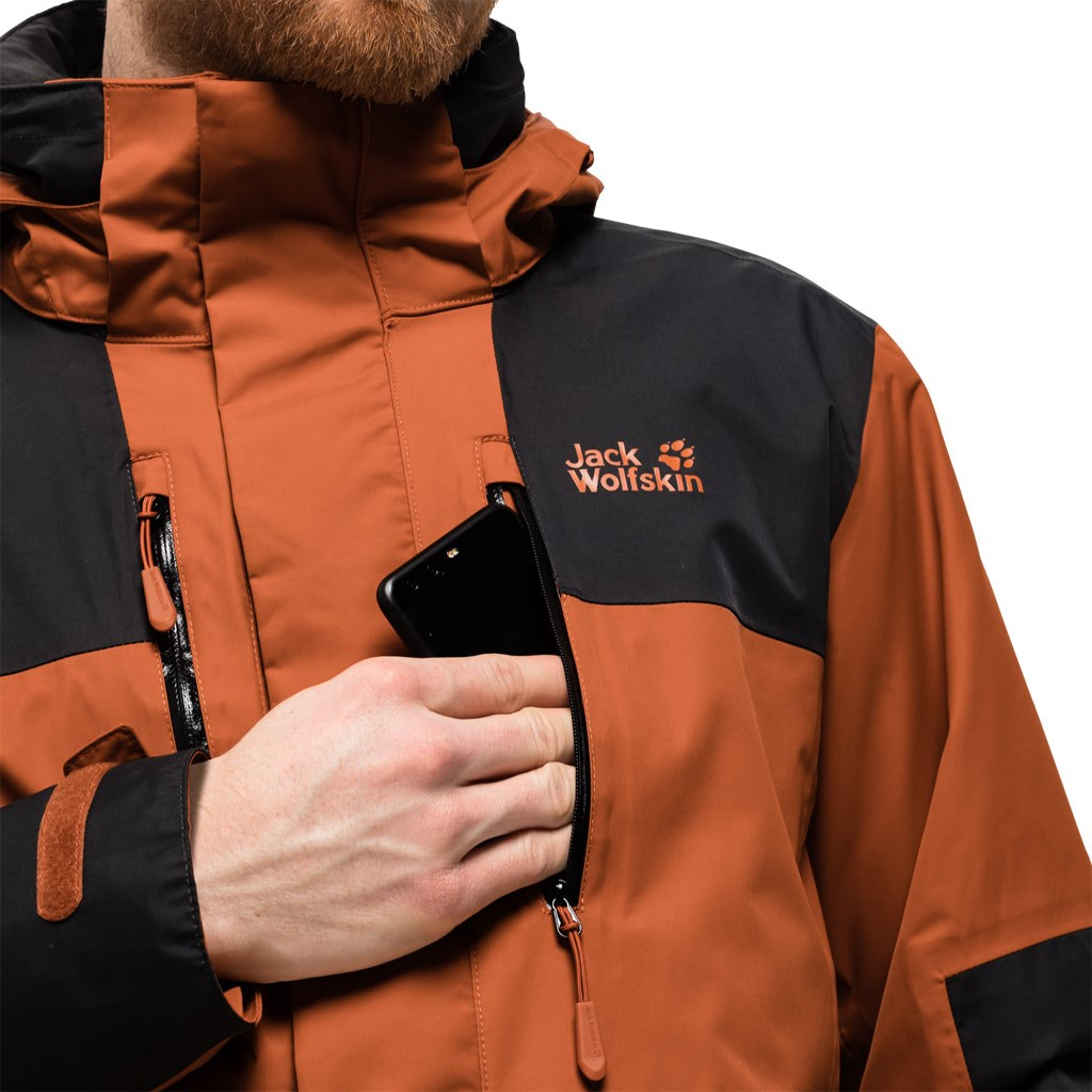 website for discount hot new products finest selection Jack Wolfskin Mens Jasper 3-in-1 Jacket - Sequoia £230.00