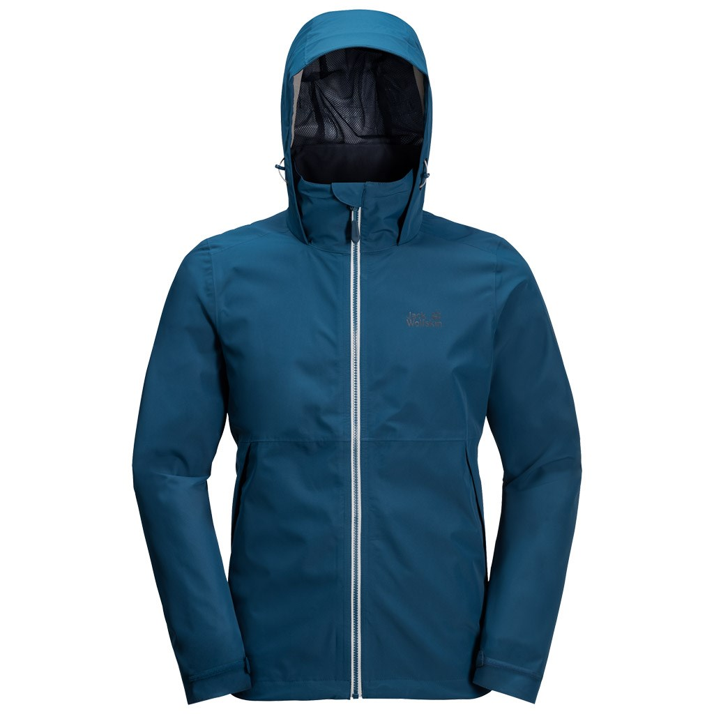 promo code shoes for cheap los angeles Jack Wolfskin Mens Evandale Jacket - Poseidon Blue £70.00