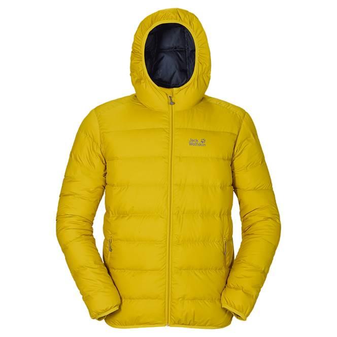 jack wolfskin mens helium down jacket yellow green. Black Bedroom Furniture Sets. Home Design Ideas