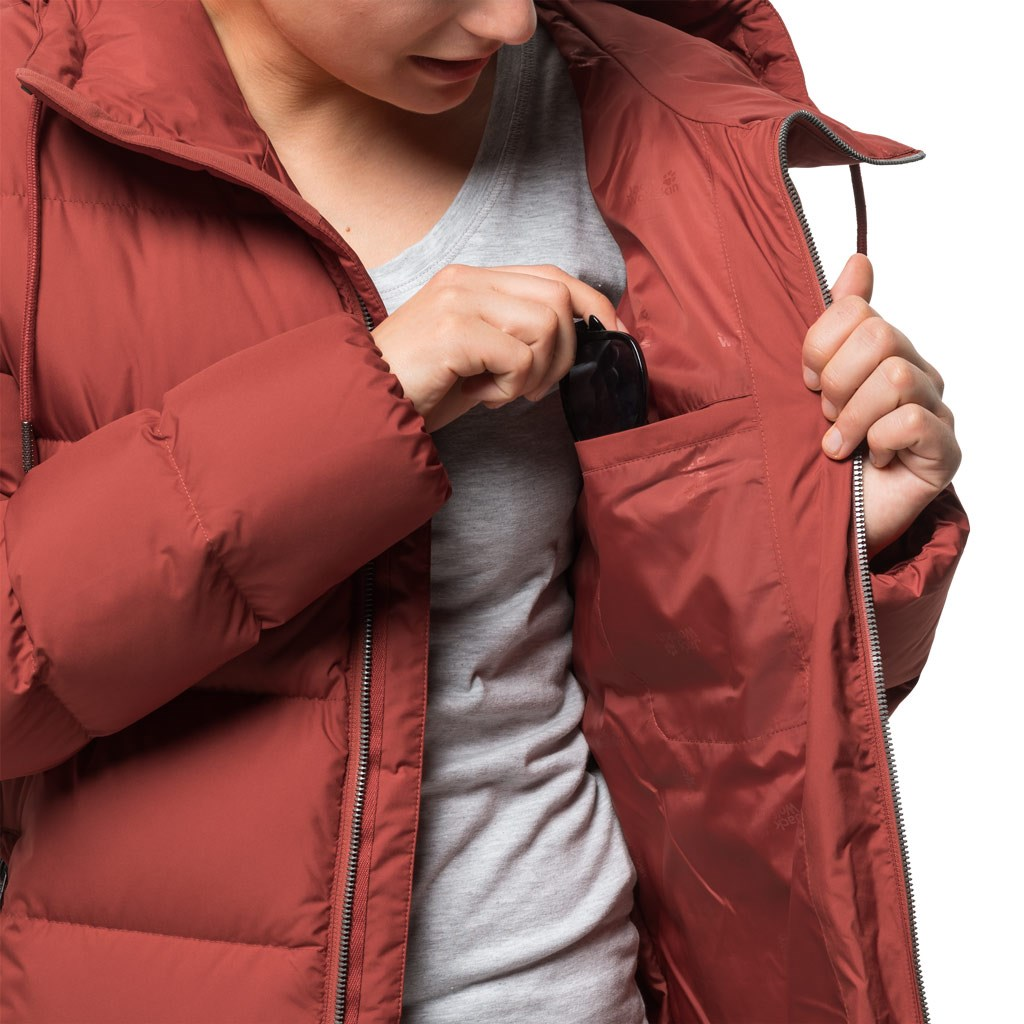 1dbb69e85b2 Jack Wolfskin Womens Crystal Palace Down Coat - Mexican Pepper £100.00