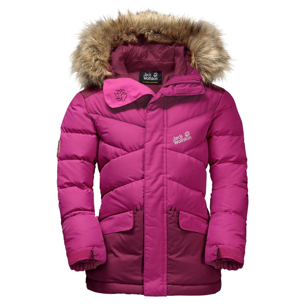 Jack Wolfskin Kids Icefjord Winter Jacket Fuchsia 12000 Torch Tshirt Women Pink L