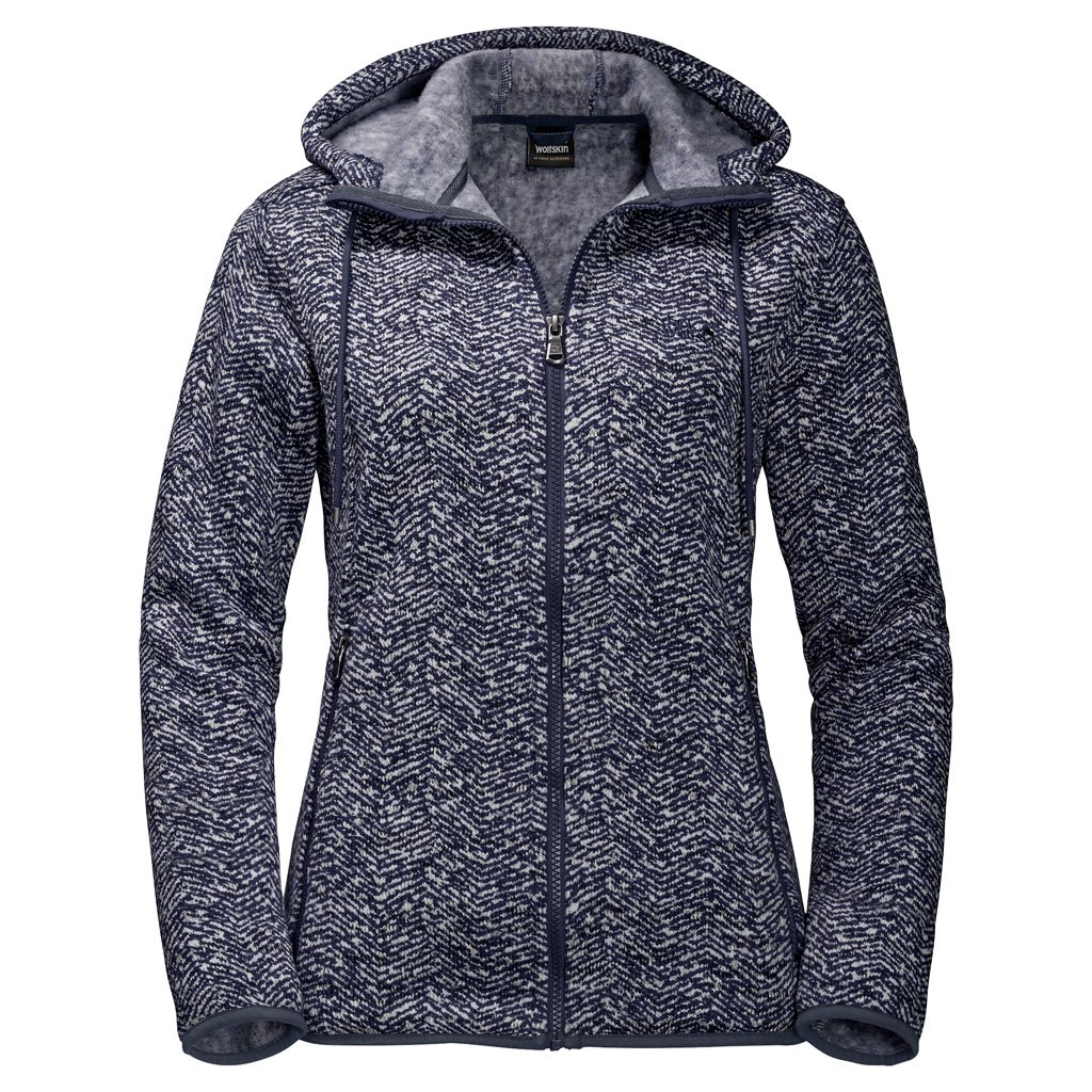 free shipping 9a5a5 ebfa5 Jack Wolfskin Womens Belleville Fleece Jacke - Midnight Blue ...