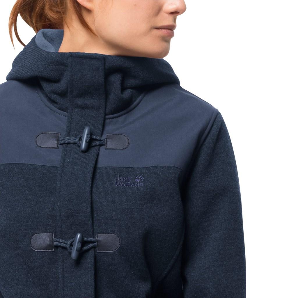 a6c8e3f7a3 Jack Wolfskin Womens Edmonton Fleece Coat - Midnight Blue £112.50
