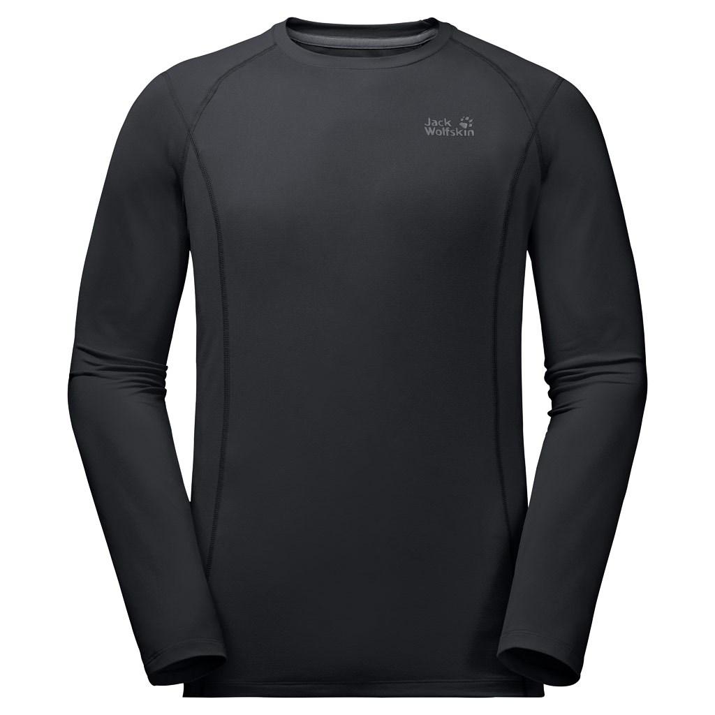 b753f64203e455 Jack Wolfskin Mens Hollow Range Long Sleeve - Black £45.00