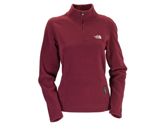 6f2174bcd670 The North Face Womens 100 Glacier 1 4 Zip - Bordeaux Red £37.00