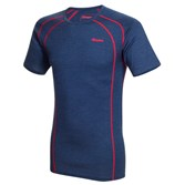 to see ' Bergans Mens Fjellrapp Tee - Navy Melange/ Red ' in more detail, click here